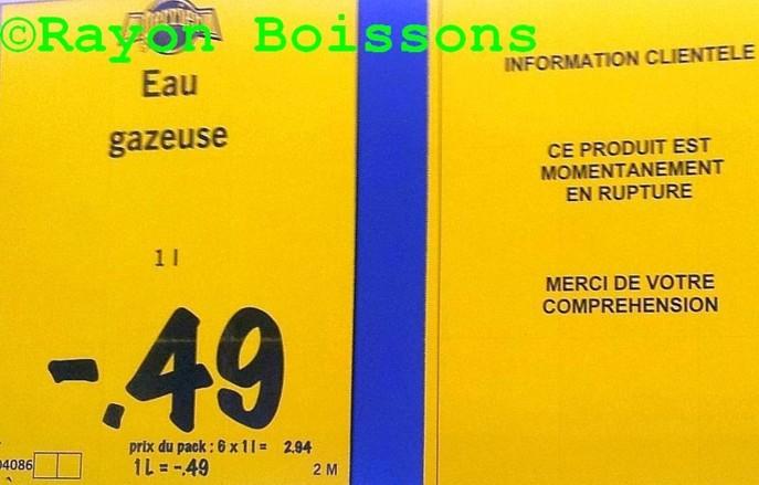 Le prix du Perrier reste très attractif chez Lidl mais le produit n'est plus livré par Nestlé Waters. Jusqu'à quand ? (Photo Rayon Boissons)