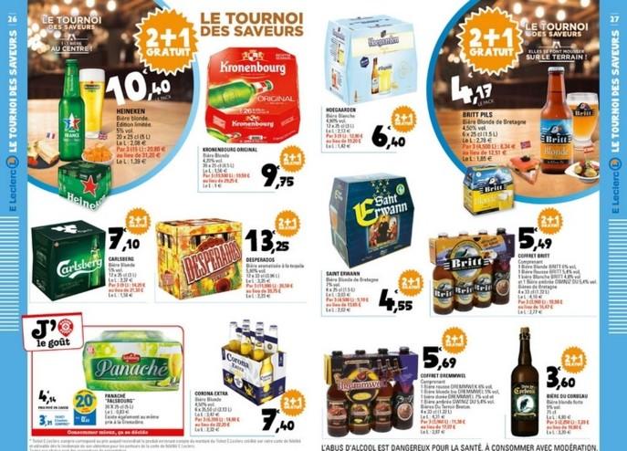 Distribution Leclerc Aligne Les Promotions En 2 1 Gratuit Sur Les Bieres Actu Flash Rayon Boissons
