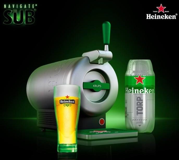 Vendue 249 €, cette nouvelle machine pression fonctionne avec des recharges en forme de torpilles vendues 7 € l'unité sur la marque Heineken et 8,20 € sur la marque Affligem. (Photo DR pour Rayon Boissons)