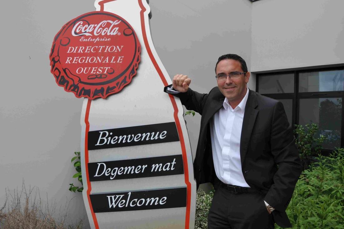 Stéphane Lehoux, directeur régional de Coca-Cola Entreprise dans le Grand Ouest (photo Rayon-Boissons)